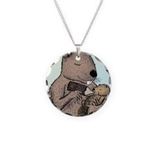 Mother Beaver and Baby Necklace