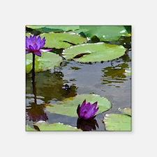 """purple lilies2 ks Square Sticker 3"""" x 3"""""""