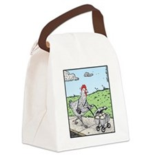 Mother Hen and her Eggs Canvas Lunch Bag