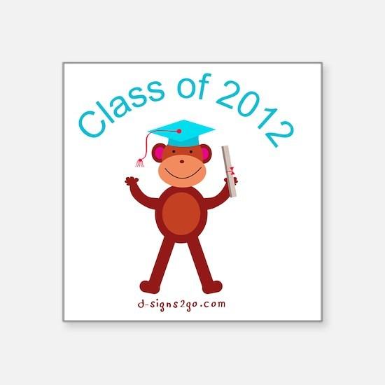 "Graduation 2012 Square Sticker 3"" x 3"""