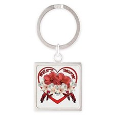Best Mom Square Keychain