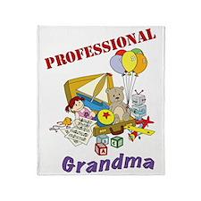Professional Grandma Graphic Throw Blanket