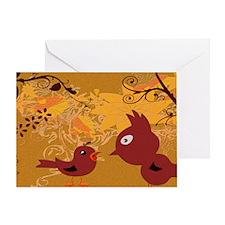 Bird Print Greeting Card