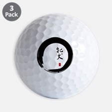 Enso Open Circle with Kanji for Bitch Golf Ball