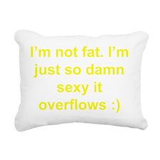 sexy fat Rectangular Canvas Pillow