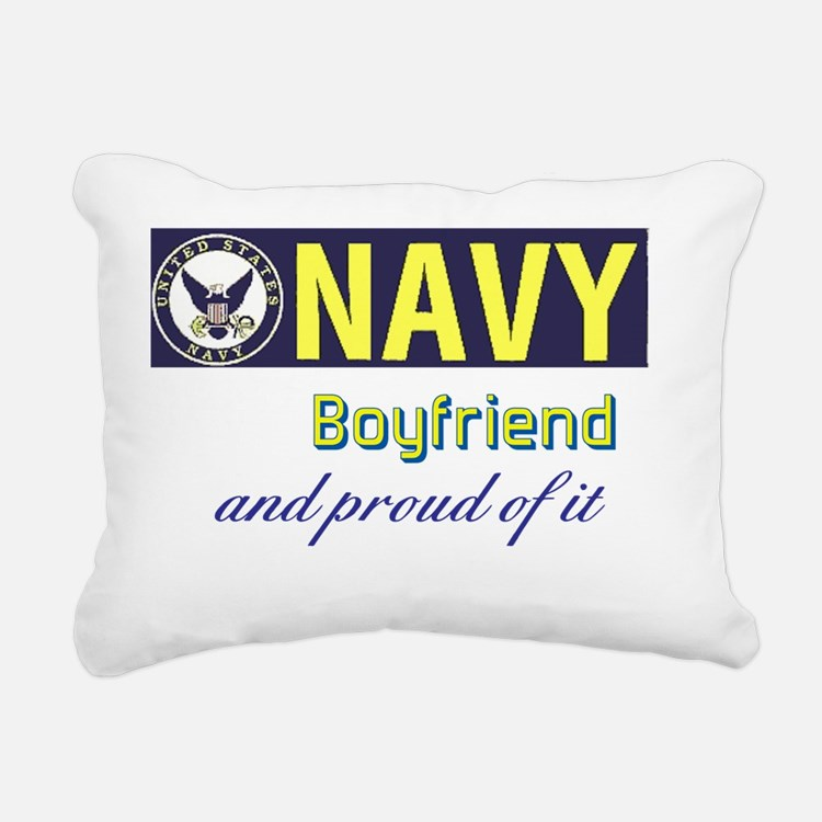 Navy Boyfriend Rectangular Canvas Pillow