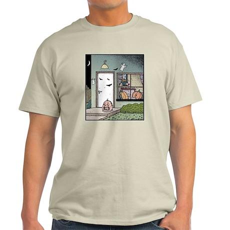 Human Halloween Pumpkin Light T-Shirt