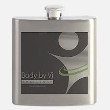 Body by Vi Mousepad Black Flask