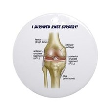 Knee Surgery Gift 9 Ornament (Round)