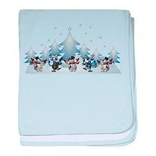 Funny Snow Dance baby blanket