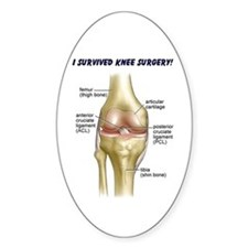 Knee Surgery Gift 9 Oval Decal