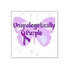 """Unapologetically Purple But Square Sticker 3"""" x 3"""""""