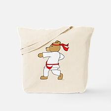 Karate Bear Tote Bag