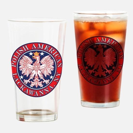 Lackawanna New York Polish Drinking Glass