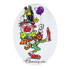 Clowning Around 2 Oval Ornament