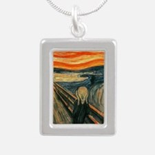 Edvard Munch The Scream Silver Portrait Necklace