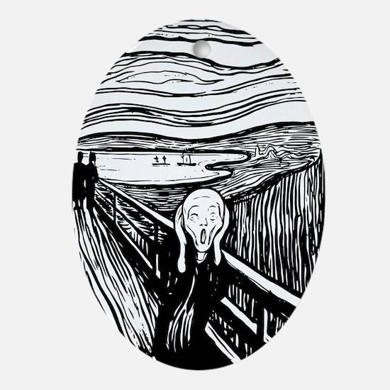 The Scream Oval Ornament