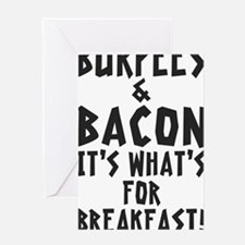 Burpees Bacon - White Greeting Card