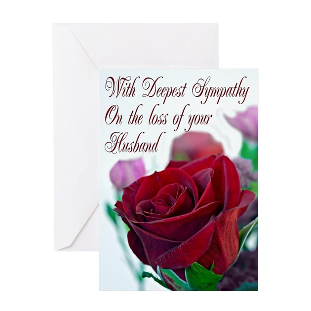 Sympathy Quotes For Loss Of Husband And Father: Sympathy On Loss Of Husband, With A Red Rose Greet By