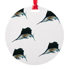 Repeating Single Sailfish1024 Ornament