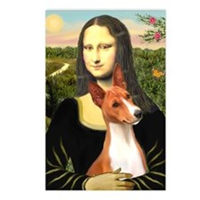 MP-MonaLisa-Basenji#1 Postcards (Package of 8)