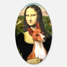 MP-MonaLisa-Basenji#1 Sticker (Oval)
