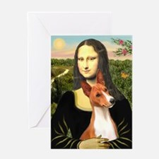 MP-MonaLisa-Basenji#1 Greeting Card