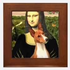 MP-MonaLisa-Basenji#1 Framed Tile