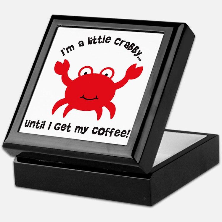 Crabby Until I get my Coffee Keepsake Box