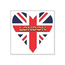 """London Heart Square Sticker 3"""" x 3"""""""
