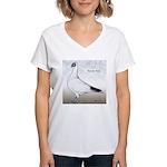Polish Shortface Pigeon Women's V-Neck T-Shirt