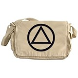 A a symbol Canvas Messenger Bags