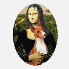 MonaLisa-Basenji#1 Oval Ornament