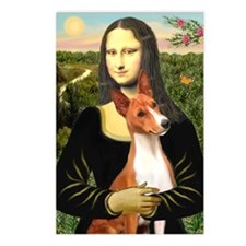 MonaLisa-Basenji#1 Postcards (Package of 8)