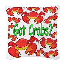 GotCrabs Woven Throw Pillow