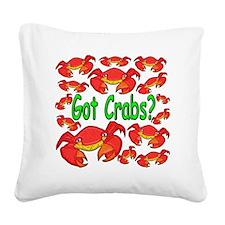 GotCrabs Square Canvas Pillow