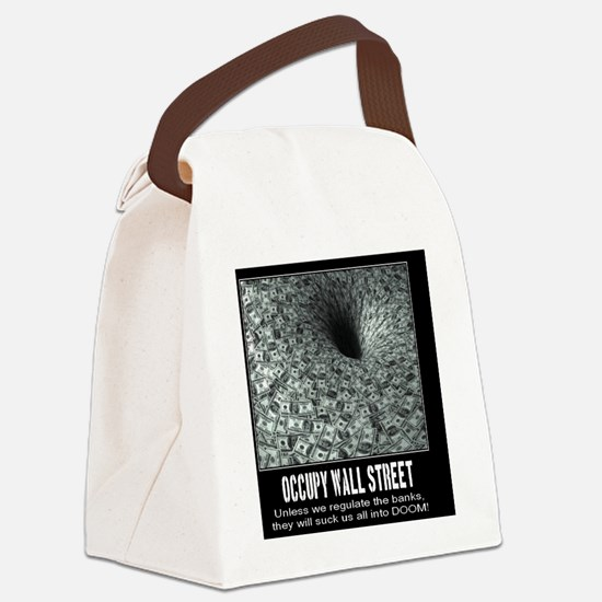 Occupy Wall Street Poster Canvas Lunch Bag