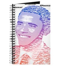 Obama USA Painted Name Red White Blue Journal