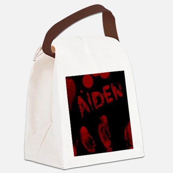 Aiden, Bloody Handprint, Horror Canvas Lunch Bag