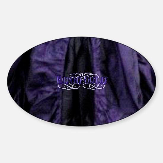 purple satin Sticker (Oval)