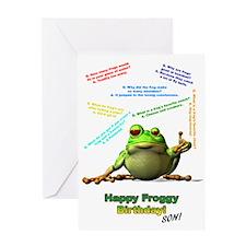 For Son Lots of Froggy Jokes Birthday Card Greetin