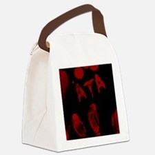 Ata, Bloody Handprint, Horror Canvas Lunch Bag