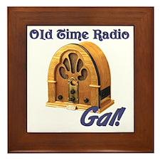 Old Time Radio Gal Framed Tile