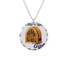 Old Time Radio Gal Necklace