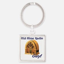 Old Time Radio Guy Square Keychain