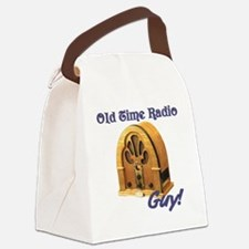 Old Time Radio Guy Canvas Lunch Bag