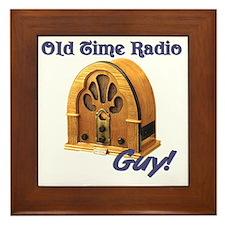 Old Time Radio Guy Framed Tile