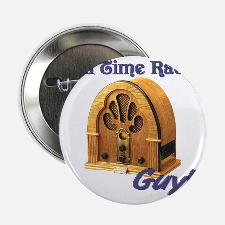 """Old Time Radio Guy 2.25"""" Button"""
