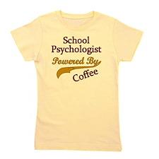 School Psychologist Powered By Coffee Girl's Tee