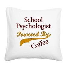 School Psychologist Powered B Square Canvas Pillow